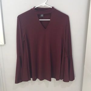maroon flowy long sleeve